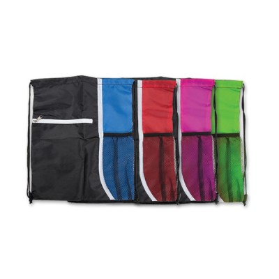 Drawstring Bag with Side Netting / Daypack
